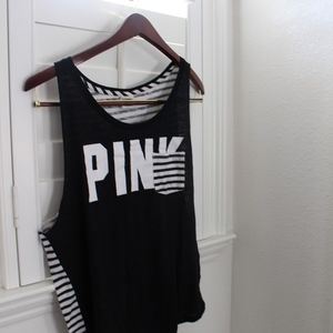 Black and white tank top from PINK